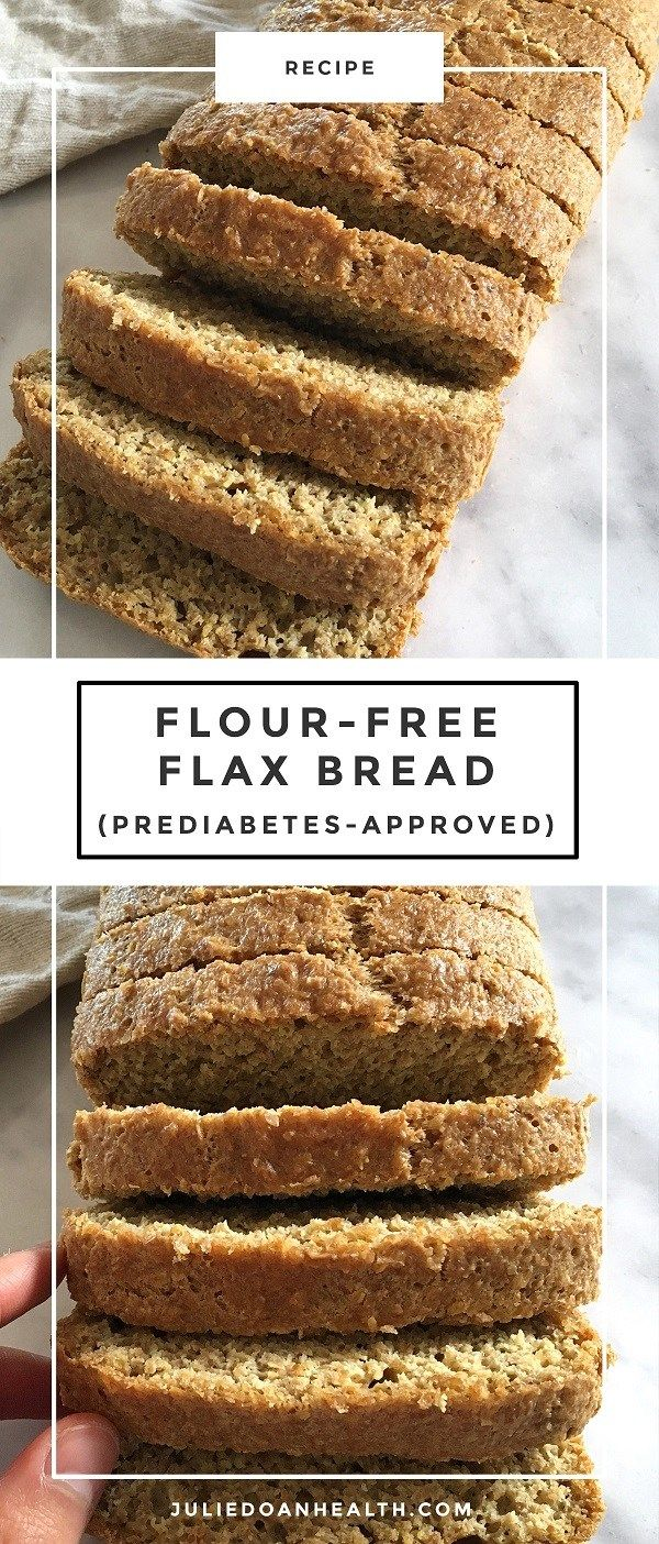 A delicious low-carb and flour-free flax seed bread recipe that #flaxseedmealrecipes