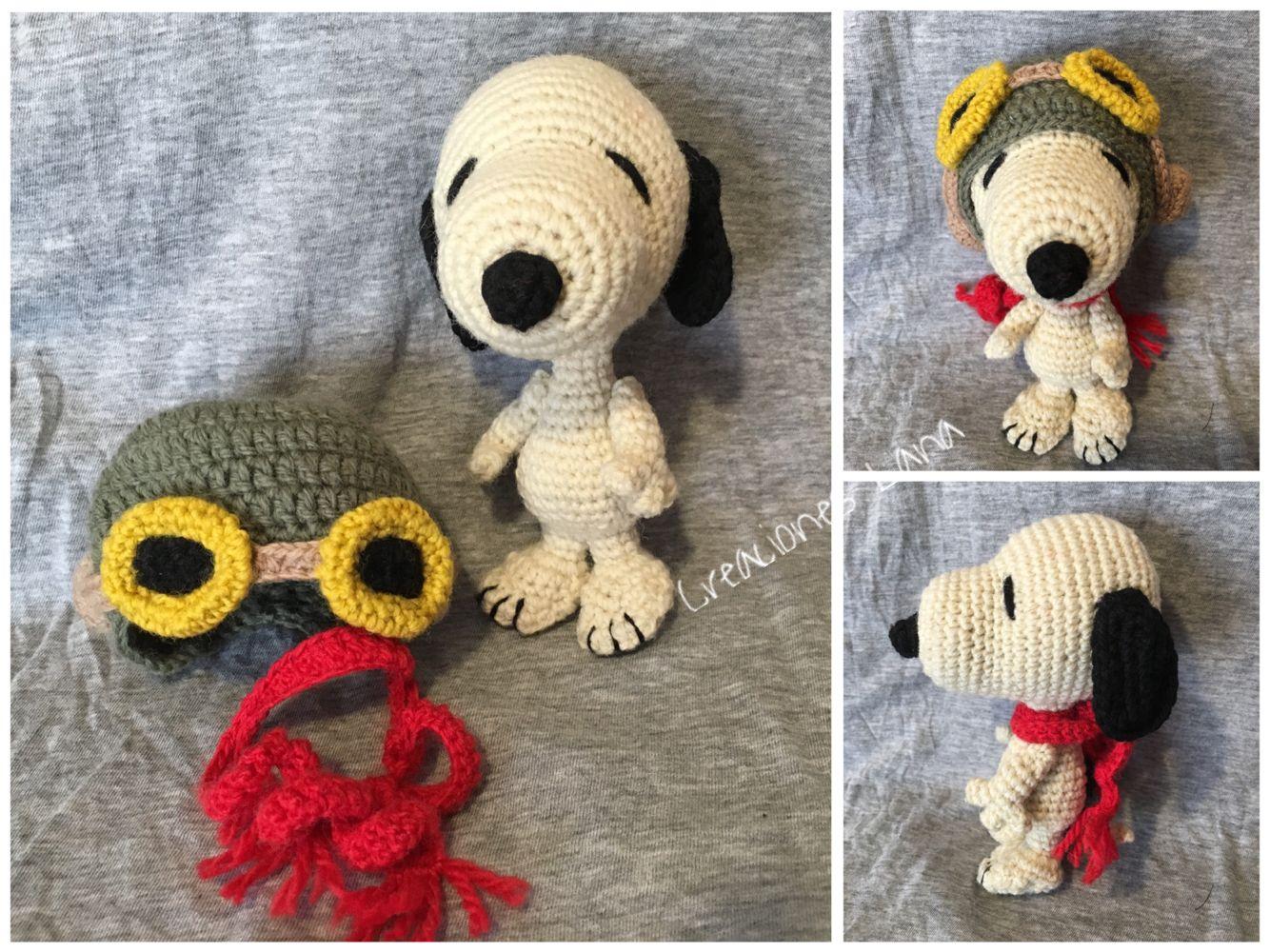 Amigurumi Tutorial Snoopy : Snoopy más accesorios crochet lana creaciones lana pinterest