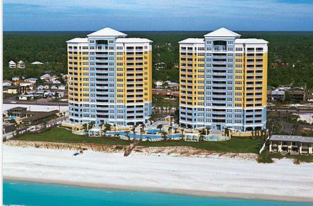 Aerial View of En Soleil Beach Resort in Panama City Beach Florida
