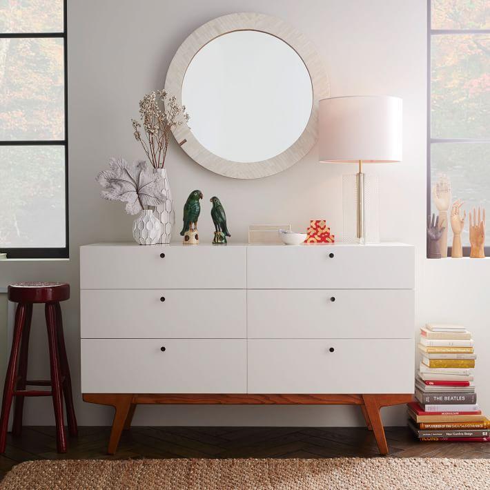 Modern 6 Drawer Dresser Furniture Modern Bedroom Dressers