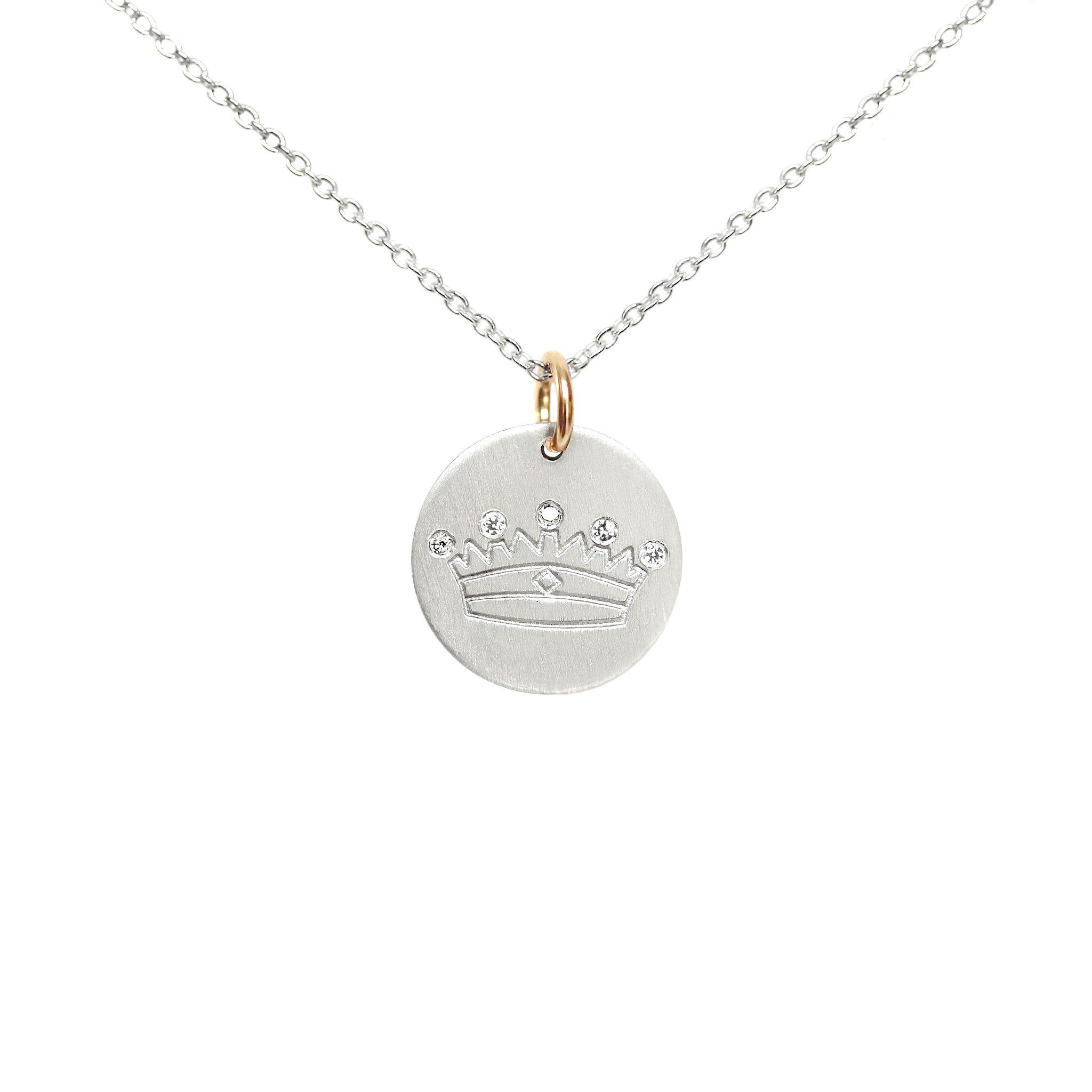 Silver Crown Charm by La Soula