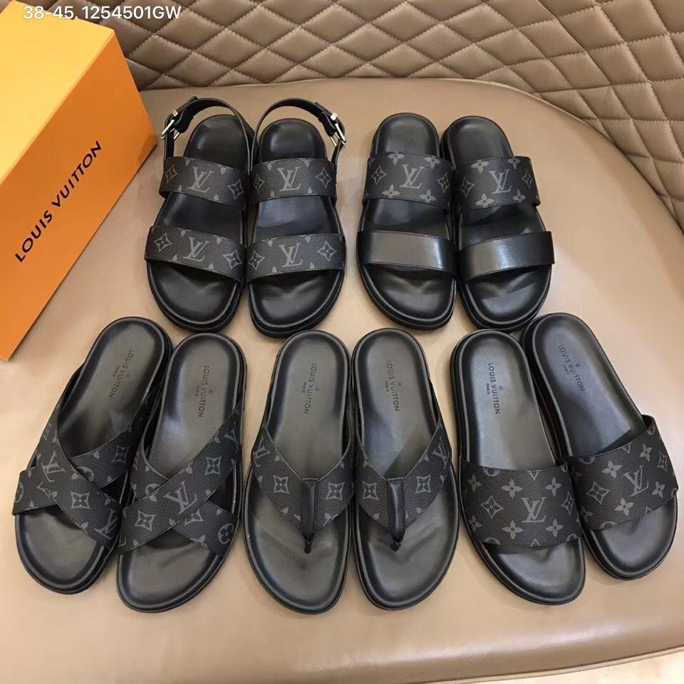 Lv men shoes, Louis vuitton flip flops