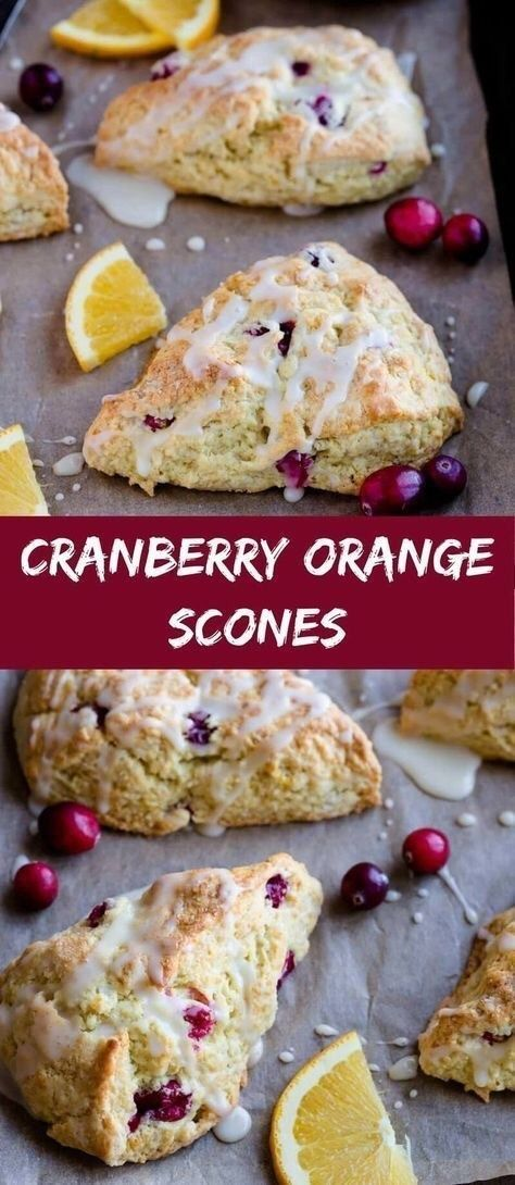 Cranberry Orange Scones - Food and recipes -