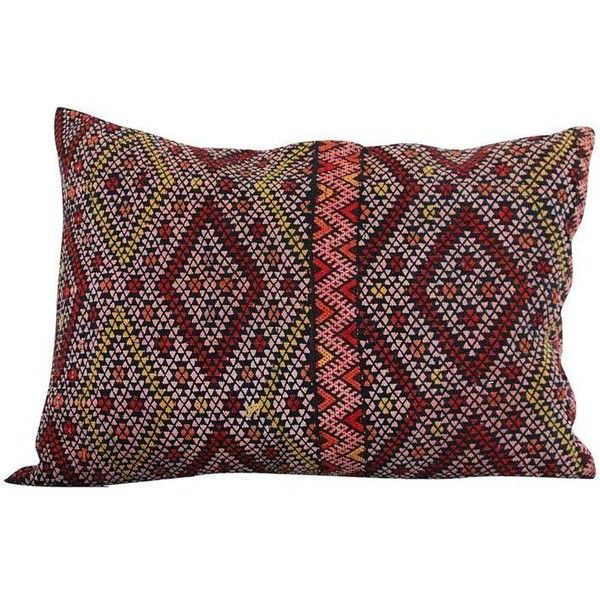 Handcrafted Moroccan Kilim Pillow VI (290 CAD) ❤ liked on Polyvore featuring home, home decor, throw pillows, pillows, moroccan style home decor, kilim throw pillows, handmade home decor, handmade throw pillows and moroccan throw pillows