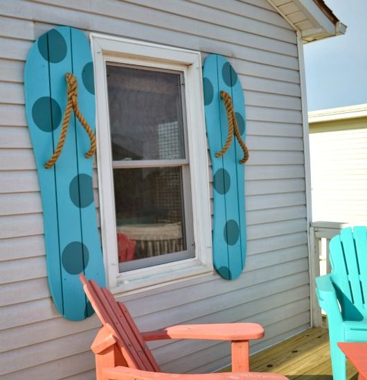 Decorative Flip Flop Shutters Pool