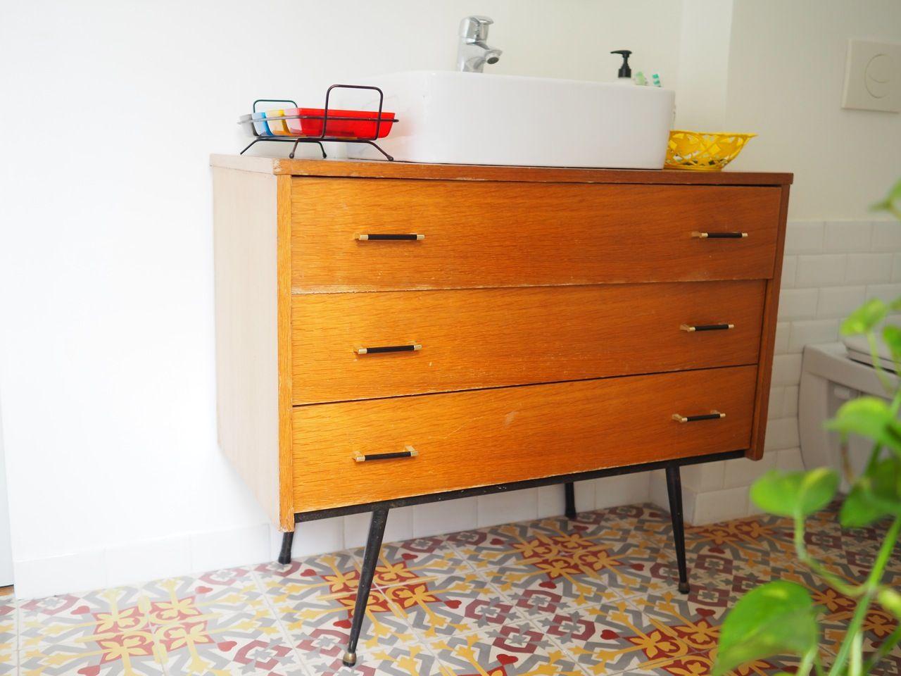 meuble vintage salle de bain | C\'est chouette | Pinterest | Bureau ...