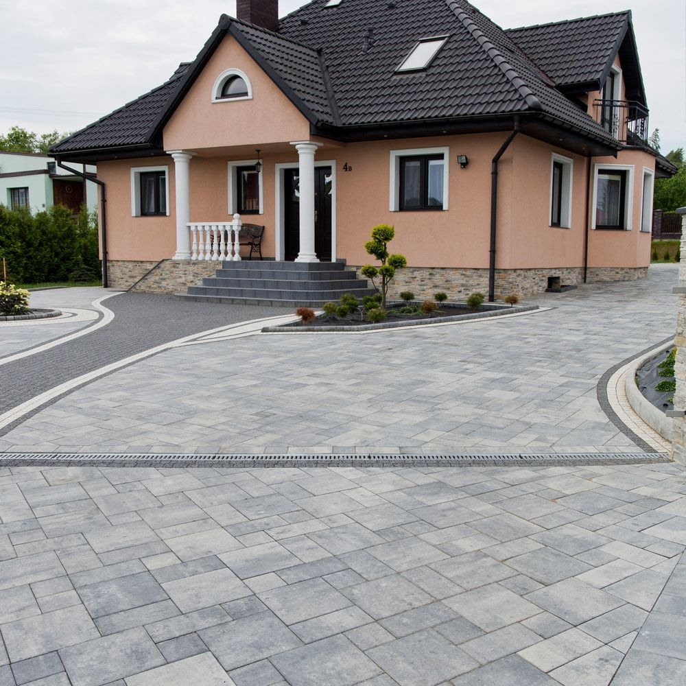 Kostka Brukowa Visio Wapien Dewonski Driveway Design Modern Backyard Outdoor Decor