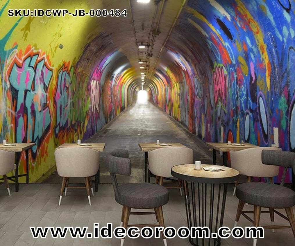 Custom Size Diy Living Room Wall Murals Graffiti Wallpaper Wall