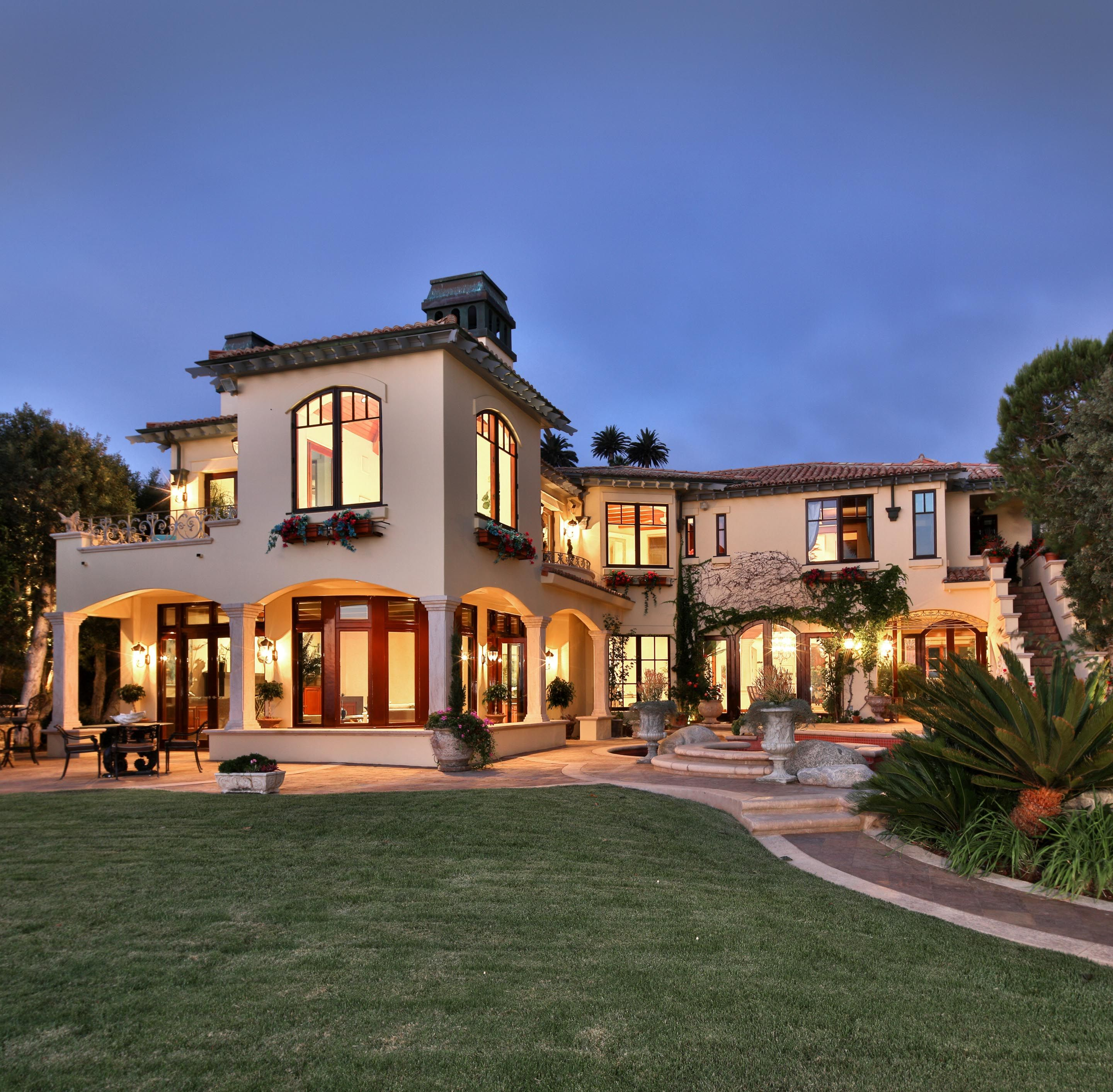 Luxury Spanish Villa Home Exterior
