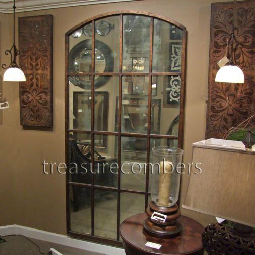Huge Metal Floor Wall Mirror Amiel Large Arch Leaning