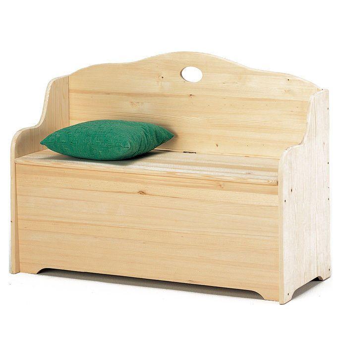 Cassapanca per esterno baule contenitore in legno massello cm 110x43x68 a13778 bauletto - Cassapanca in legno ikea ...