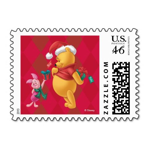 Holiday Winnie the Pooh and Piglet Postage