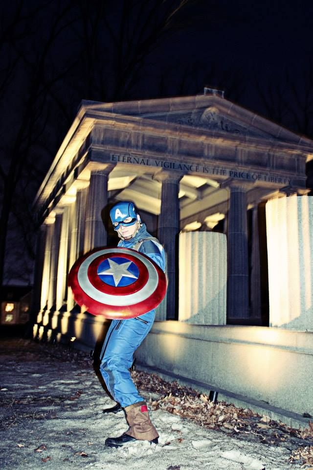 #The_Avengers #Captain_America #Cosplay Costume Jacket Pants Set $199.00 Cosplayer: Costumed Vigilante Photo by LOUI & FAYE Photography