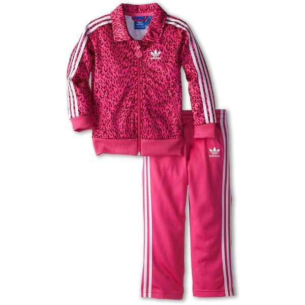 d53a8f0b3f5 adidas Originals Kids Cheetah Firebird Tracksuit (Infant/Toddler) ($50) ❤  liked on Polyvore featuring kids' sets
