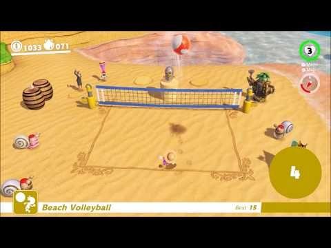 1 Super Mario Odyssey Beach Volleyball Mini Game Seaside Kingdom Youtube Mini Games Beach Volleyball Super Mario