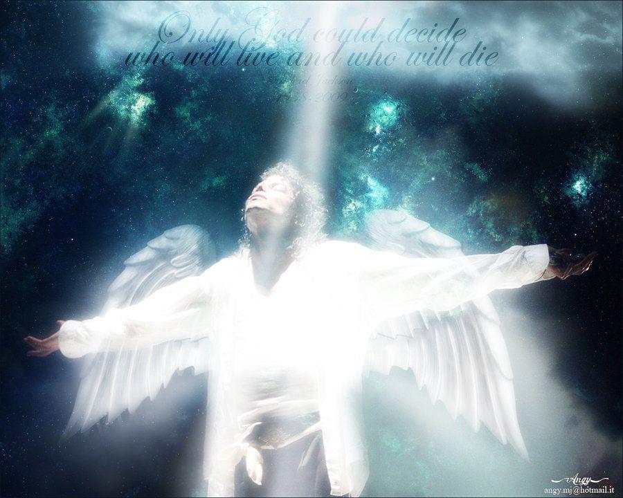 Michael Jackson as an angel