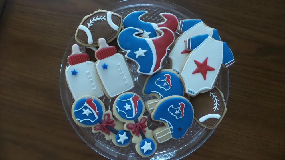 Houston Texans Baby Shower Texans Baby Shower Baby Shower Cookies Baby Shower