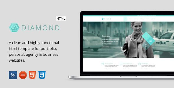 Diamond responsive business html5 template template personal diamond responsive business html5 template fbccfo Image collections