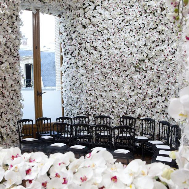 Christian Wedding Reception Ideas: Dior Couture Finale Room. Amazing.
