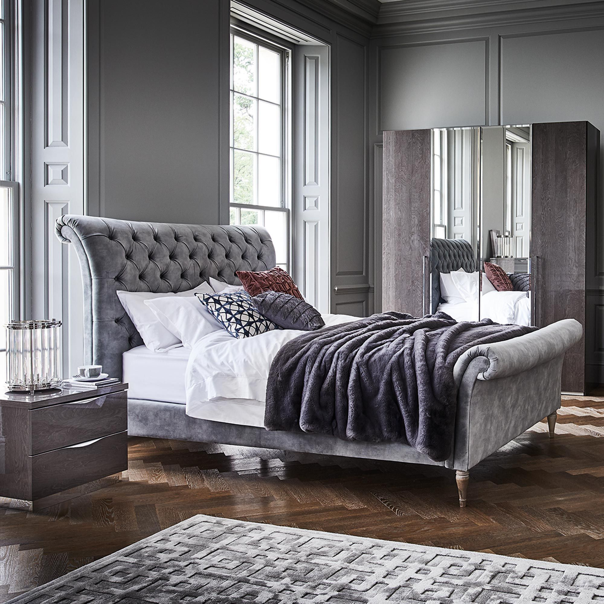 This luxurious bed frame The Odeon High End has been ...