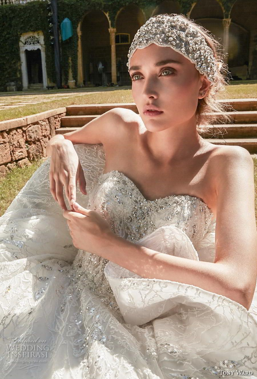 tony ward fall 2020 bridal strapless sweetheart neckline full embellishment princess ball gown a line wedding dress mid back chapel train 1 zv  Tony Ward La Mariée...