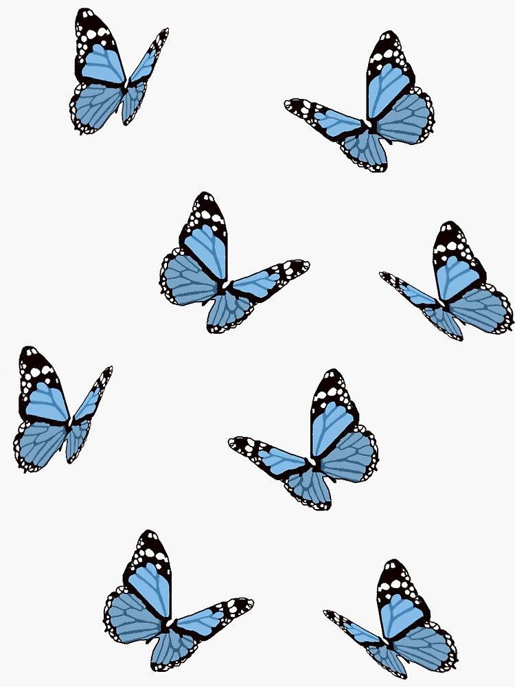 Pegatina 'Mariposas azules' de maiaswamy