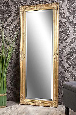 Spiegel Wandspiegel Tamara Barock Antik Gold 132 X 52 Cm Dazzeling Xo