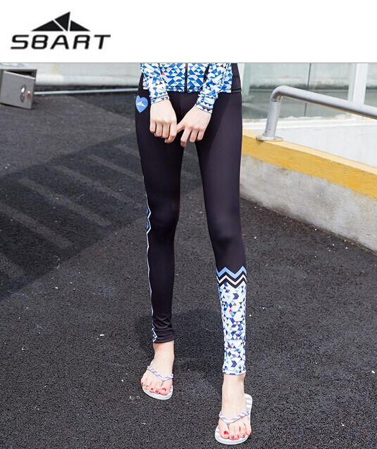 73546e75e72b7 SBART Women Spearfishing Diving Tights Pants Swimming Snorkeling Surfing  Yoga Fitness Running Legging Swimsuit UPF50+ Rash Guard