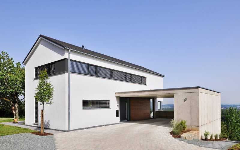 1128 einfamilienhaus neubau architekten for Einfamilienhaus satteldach