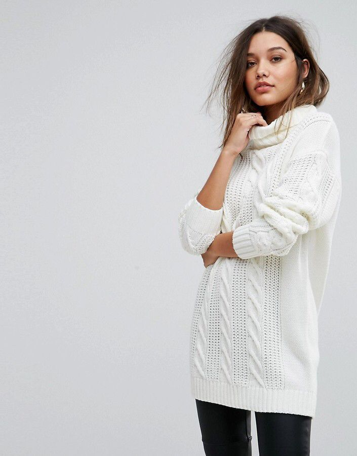 ff8e23cf994ec4 Ivyrevel Oversized Cable Knit Sweater With High Neck | Fashion ...