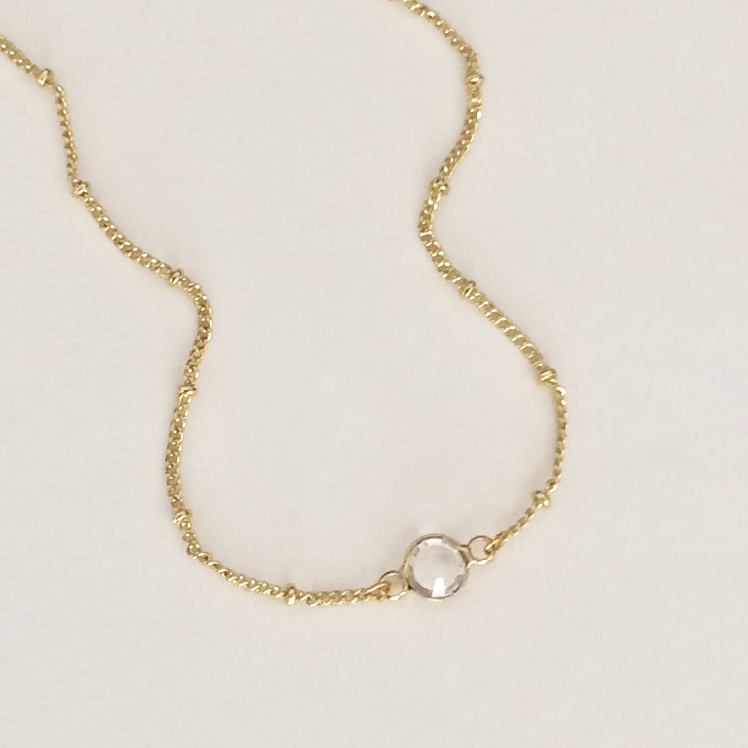 simple chain gold l heart necklace
