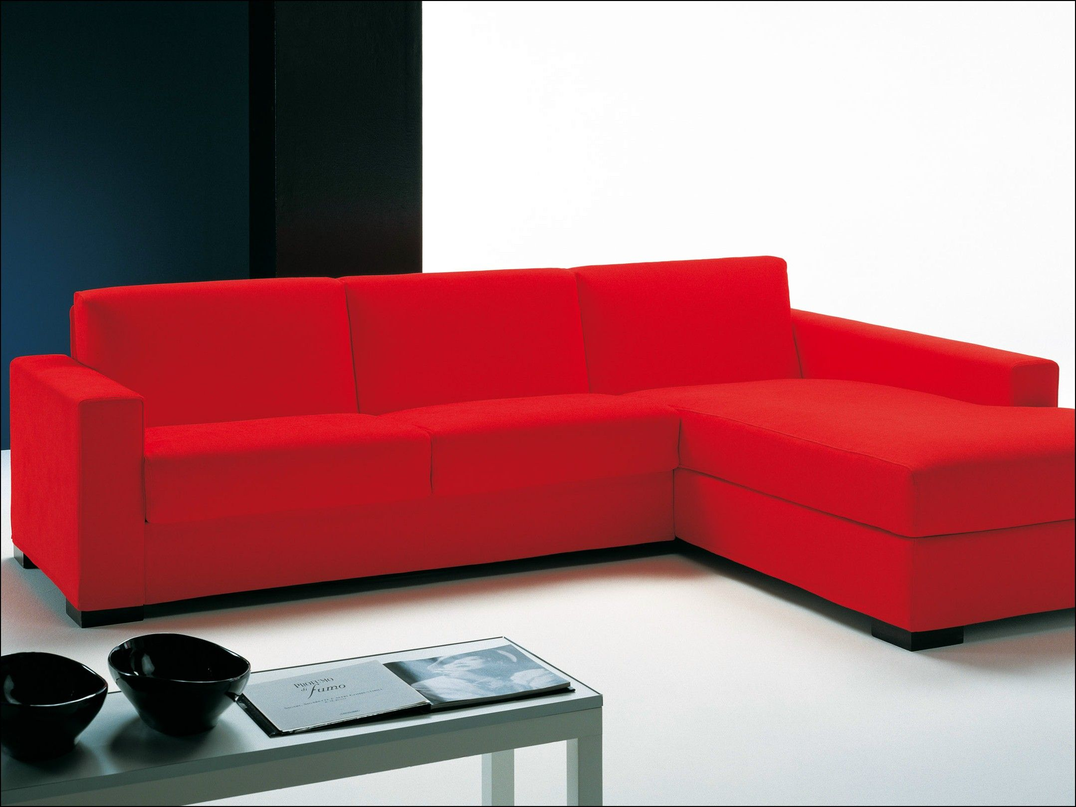 Red L Shaped Sofa Ikea Bed Couch Leather