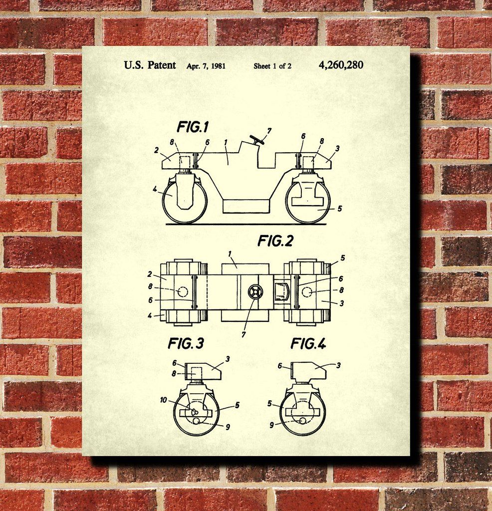 Road roller patent print construction blueprint poster one of a road roller patent print construction blueprint poster one of a huge collection of patent prints malvernweather Image collections