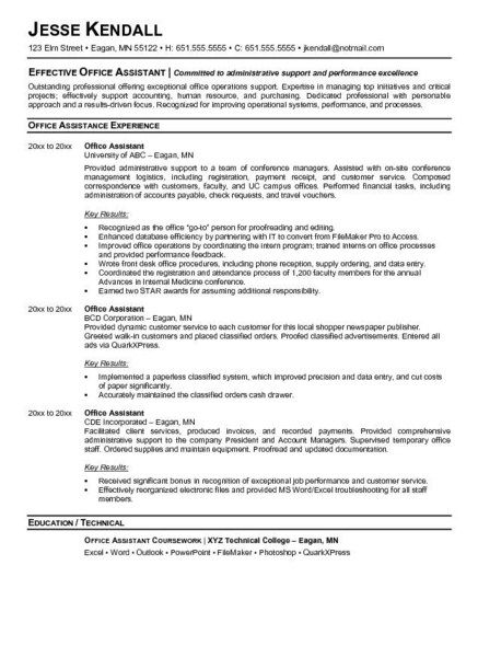 Resume Format For Front Office Job - http\/\/jobresumesample - front desk resume