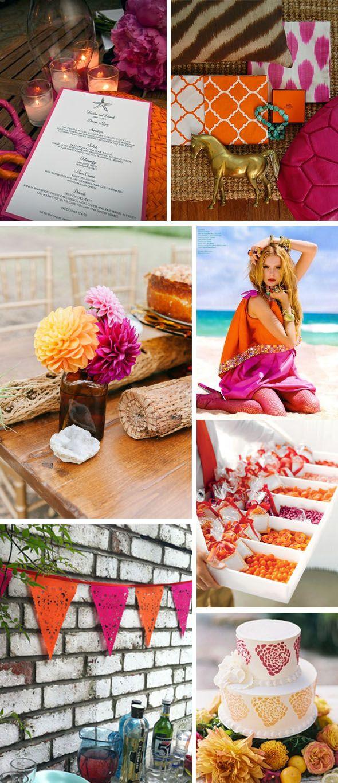 Fuschia And Orange Weddings Fuchsia Pinterest Weddings