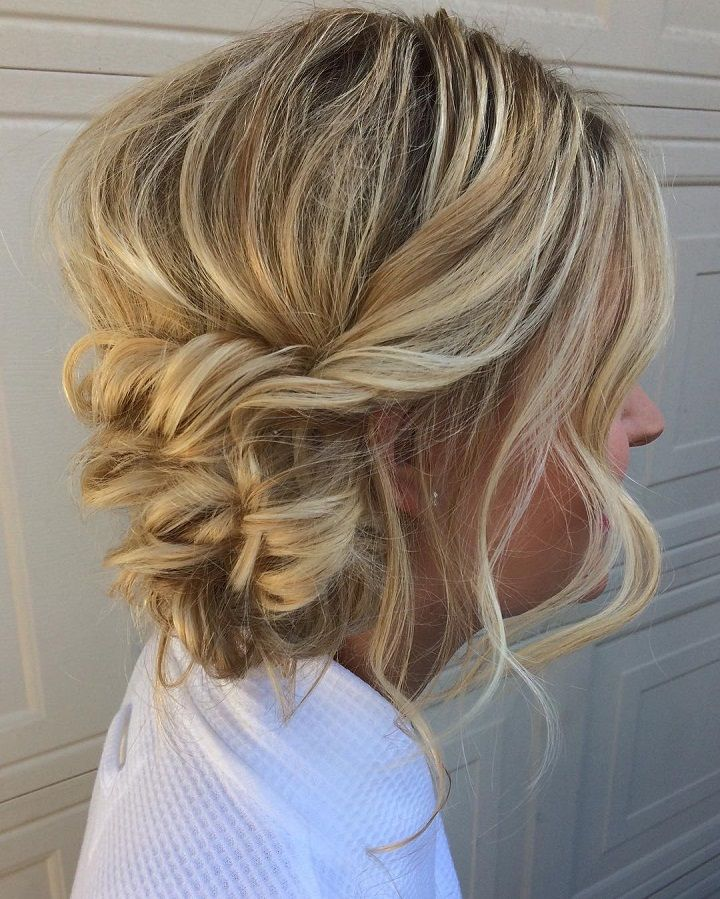 Romantic Wedding Hairstyles For Long Hair: Messy And Relaxed Updo Romantic Wedding Hairstyles For