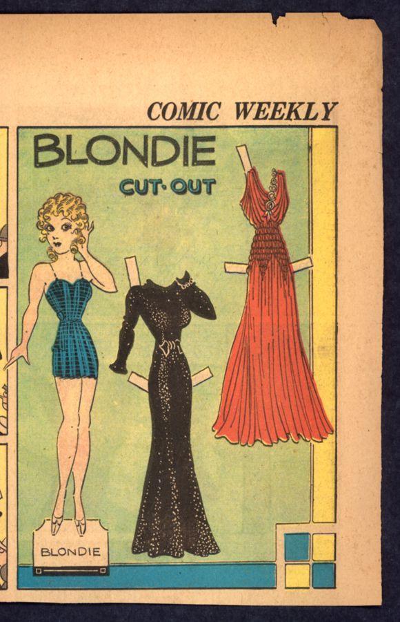 1938 Blondie paper doll / eBay