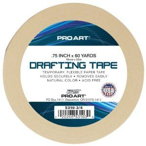 Amazon.com: Pro Art 3/4-Inch by 60-Yards Drafting Tape: Arts, Crafts & Sewing