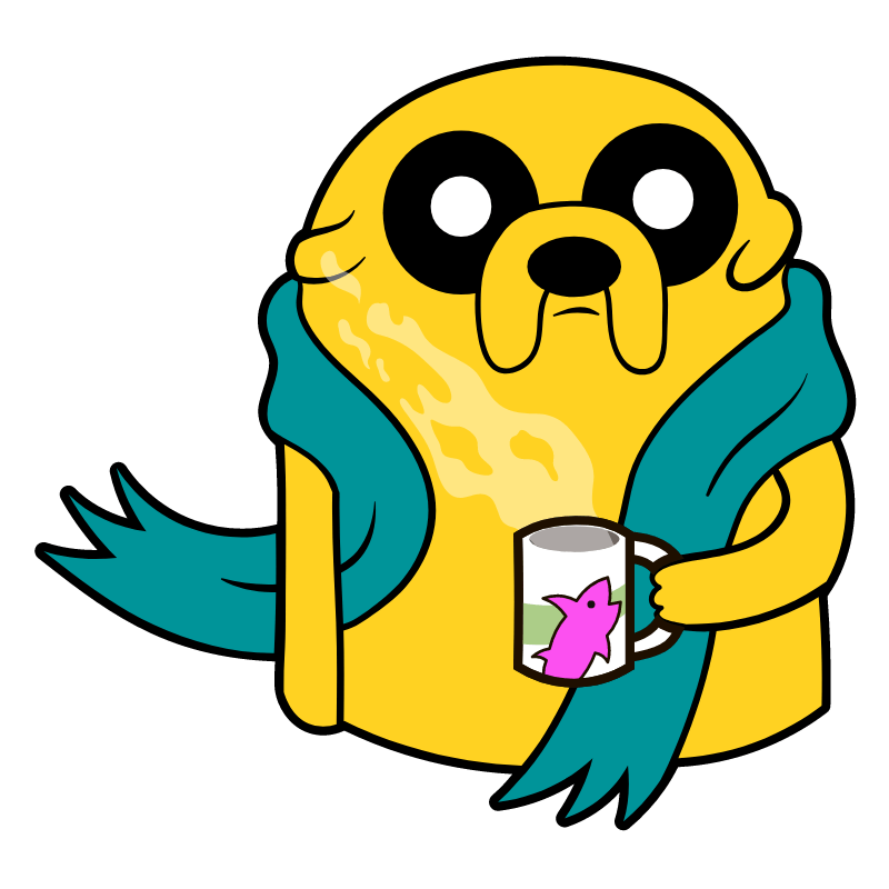 Adventure Time Jake With Tea Adventure Time Cartoon Stickers Adventure