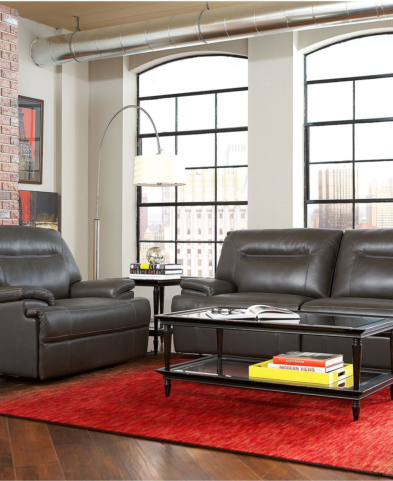 Dario Leather Sofa Living Room Furniture Collection, Power