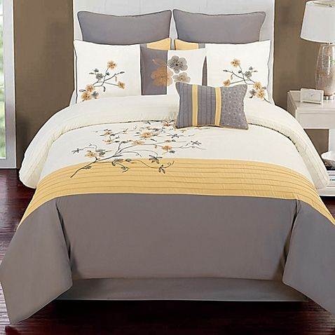 Transform Your Bedroom Into A Soothing Sanctuary With The Beautiful Camisha 8 Piece Comforter Set