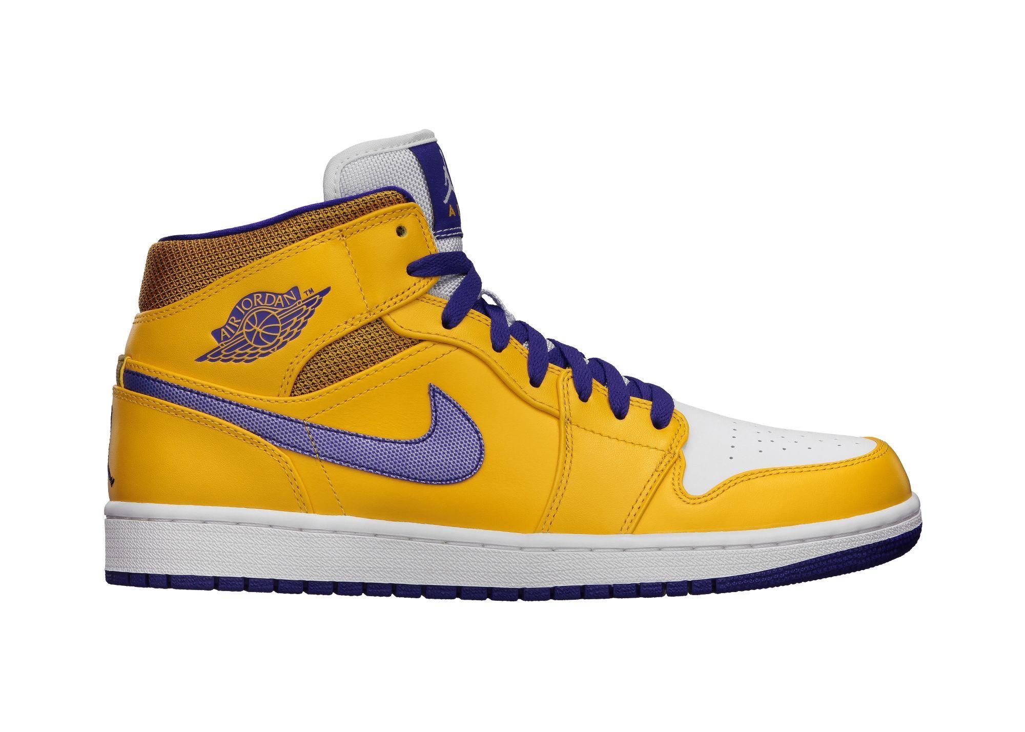 112162b399f #17 Nike Air Jordan 1 Retro Lakers colorway Bought at Niketown Seattle -  5/19/2013 $105