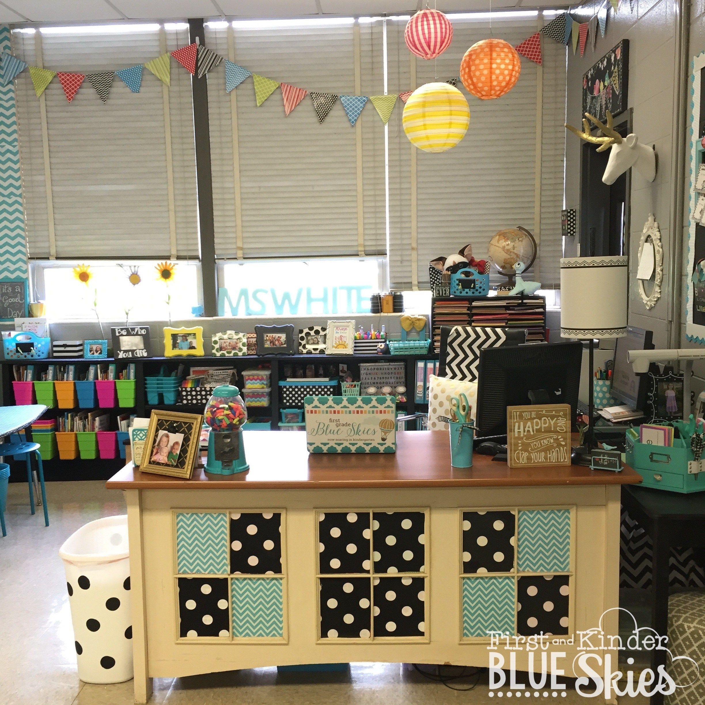 Teacher Desk Teacher Desk Areas Classroom Reveal Teacher Desk Organization