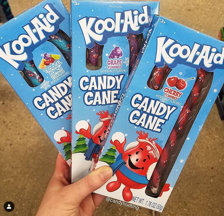 Dollar Tree Has Giant Kool Aid Candy Canes Flavors Include Tropical Punch Grape And Cherry Tropical Punch Kool Aid Christmas Goodies