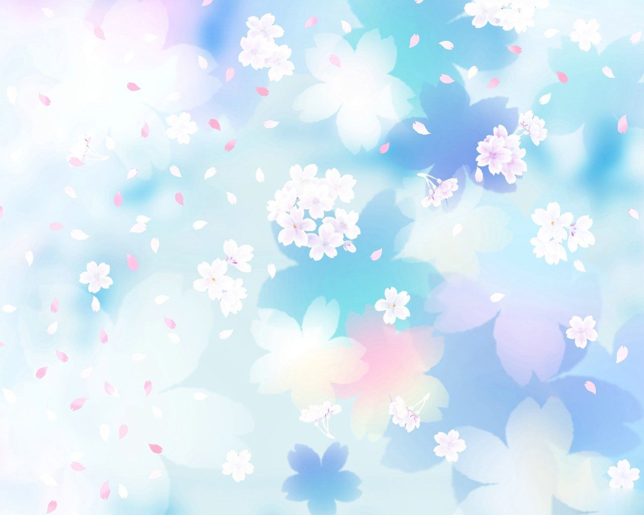 Flowers Blue And White Pattern Wallpaper | Download ...