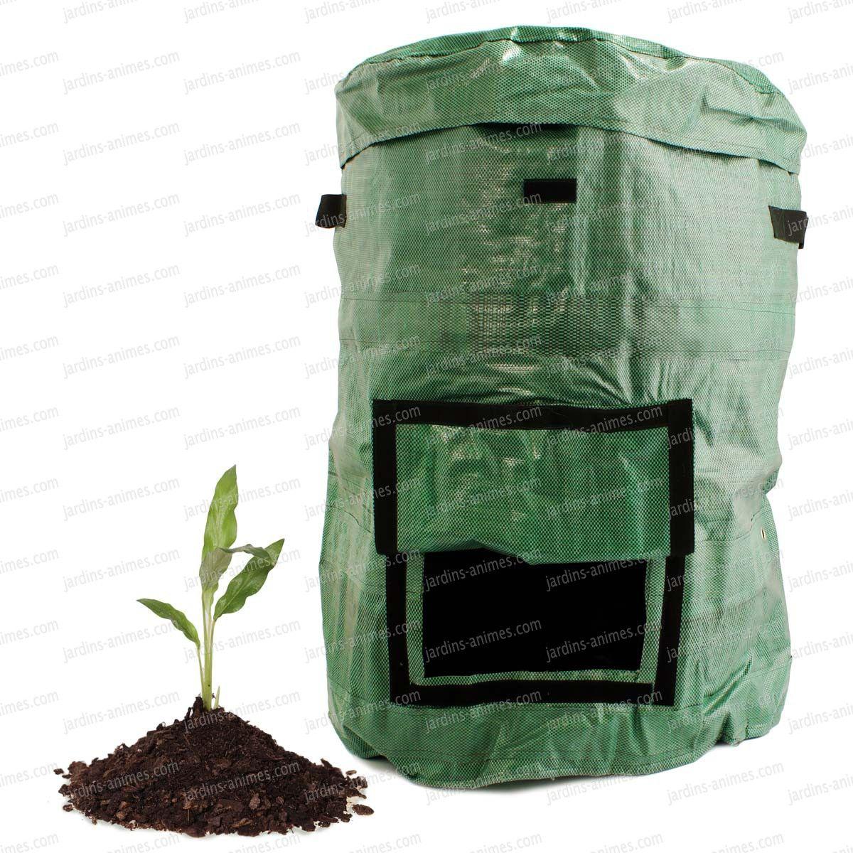 Un composteur pliable pour le jardin. Pratique ce sac à composter il se déplie pour former un composteur facile à déplacer et à ranger. Bien équipé et...
