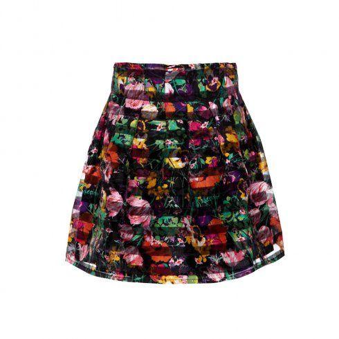 Yumi Organza Stripe Skater Skirt