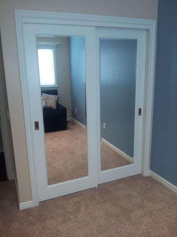 Er Beveled Mirror Rectangular Pulls Closet Doors Door Bedroom 2017
