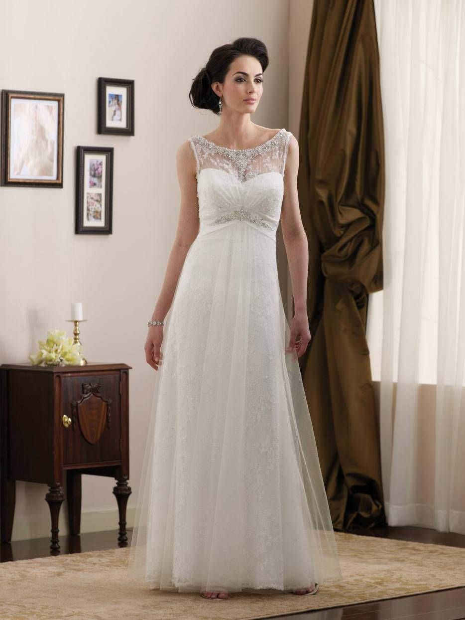 30 simple wedding dresses ideas informal wedding dresses for Plain wedding dresses with straps