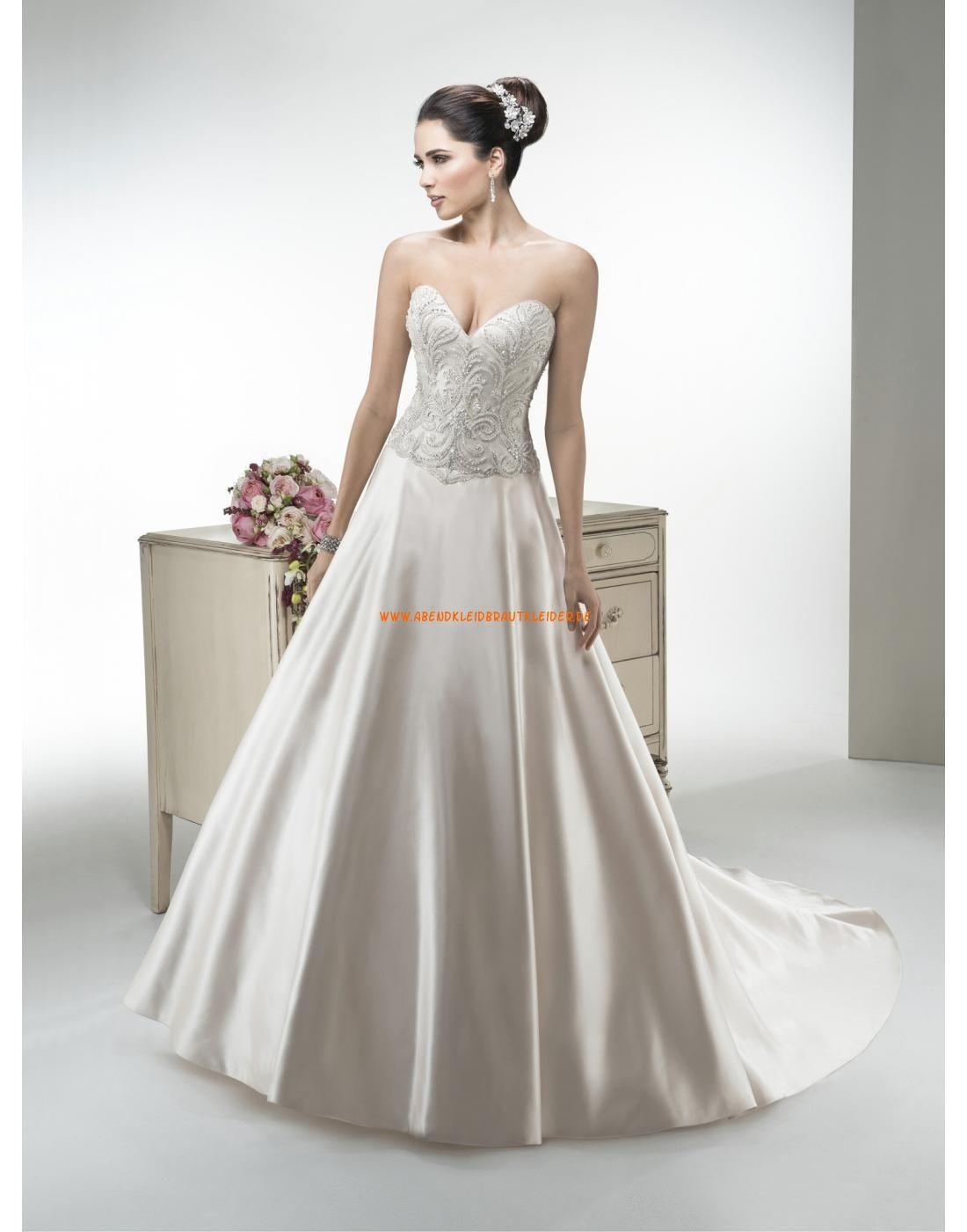 Maggie Sottero A-linie Ausgefallene Exklusive Brautkleider aus Taft ...
